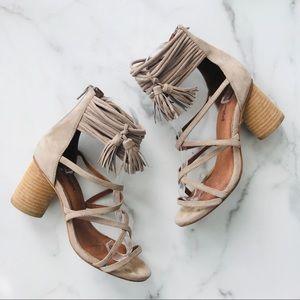 Jeffrey Campbell Suede tassel round heels